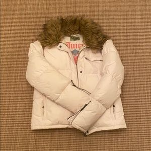 JUICY COUTURE WHITE DOWN JACKET